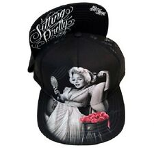 DGA Day of the Dead Marilyn Monroe Rockabilly Ladies Snapback Hat Sitting Pretty