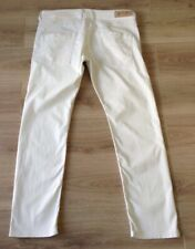 DIESEL BELTHER JEANS SIZE 36 X 31 WHITE SLIM TAPERED STRETCH GC SEE DESCRIPTION