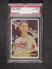 1957 Topps Sam Jones # 287 Cardinals PSA 8 NM-MT