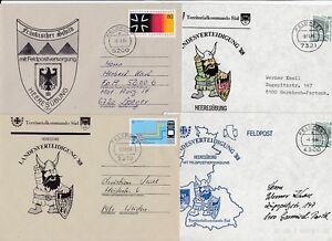 Bundeswehr Feldpost   4 Belege  Lot # 4