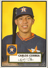 """2015 Topps Call Up Series Carlos Correa Houston Astros 5"""" x 7"""" #'d to 49 RC"""