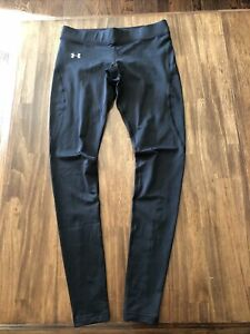 Under Armour Womens Leggings Medium Cold Gear Fitted Base layer Solid Black M