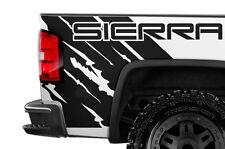 Vinyl Graphic Decal Wrap Kit for 14-17 GMC SIERRA Rear Quarter Panel MATTE BLACK