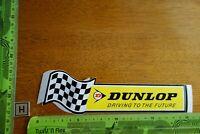Alter Aufkleber Automobil Motorrad Werkstatt Reifen DUNLOP