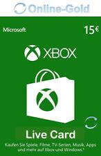 Xbox Live 15 Euro Guthaben Card - Xbox 360 & One Download Code [DE/EU]