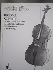 Breval Sonate in C major for cello and piano *NEW*  Publisher Schott