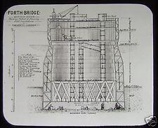 RARE VICTORIAN Glass Magic Lantern Slide THE FORTH BRIDGE CONSTRUCTION NO6 1889