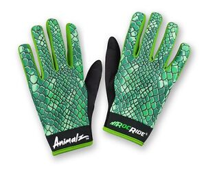 RocRide Animalz Cycling Gloves Green Viper. Full-Finger Screen Compatible Tips