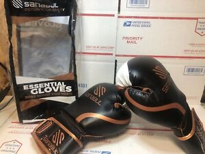 Sanabul Essential GEL Kickboxing Boxing Gloves Orange-Gold/Black/White 8 oz