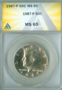 1987-P Kennedy Half Dollar 50C ANACS MS 65 FREE S/H (2026214)