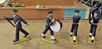 4 ancienne Figurine Starlux  Militaire avec accidents costume noire vintage