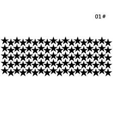 10/20/90pcs Star Wall Sticker For Kids Room Decor Easily Removable Waterproof