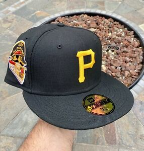 New Era Pittsburgh Pirates Black Size 7 1/8 Allstar Patch  Not Hat Club Fitted