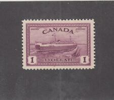 CANADA (MK3479) # 273 VF-MLH  $1 1946 PEACE ISSUE / TRAIN FERRY CAT VALUE $55