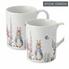 Stow Green Beatrix Potter Peter Rabbit Classic Porcelain Mug Cup Set of 2