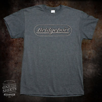 Bridgeport Milling Machine Grey Logo Texas Orange Shirt rare vintage logo