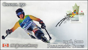 CA17-029, 2017, Canada 150, 1976-2010 Paralympic Games, Day of Issue, FDC