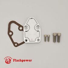 Billet SBC Chevy Fuel Pump Block-Off Plate Kit
