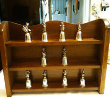 10 New England Collectors Society Beatrice Potter Bells With Display Shelf