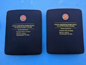SERBIA Military Protective  Body Armor Ballistic Plates Level III with Carrier