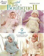 Beautiful Baby Boutique #2 Rebecca Leigh Crochet Dress Layette Sets Patterns NEW