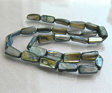 Gray Mother of Pearl Shell Beads Strand Tube Nuggets