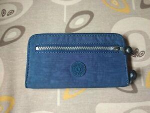 KIPLING portafoglio grande large wallet donna woman wave blu single zip