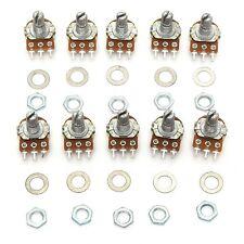 10 Pcs 10K Ohm Linear Taper Rotary Potentiometer Panel Pot B5K 15MM