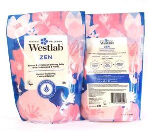 2 Bags Westlab 3 Lb Zen Epsom & Himalayan Sage Cedarwood Neroli Bath Salts