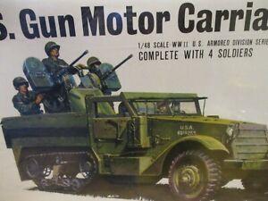 BANDAI WWII US Gun Motor Carriage M13 1:48 NOS model  #058283; SEALED ; JAPAN
