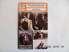 CARTE FICHE CINEMA 1962 SEPT EPEES POUR LE ROI Brett Hasley Giuilo Bosetti