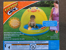 Sizzlin Cool Duck Pool With Canopy 40in X 40in X 32in