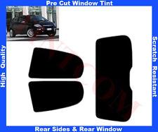 Pre-Cut Window Tint Fiat Punto Evo 3D 09-12 Rear Window & Rear Sides Any Shade