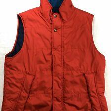 Nautica Jeans Co Dual Zipper W/ Buttons Vest Orange L EXCELLENT COND