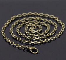 12 Colliers Fermoir Mousqueton Couleur bronze 4.2x2.8mm 51cm