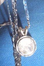 GENUINE GORGEOUS ANTIQUE 1 CT ROSE CUT DIAMOND 14K PENDANT/NECKLACE