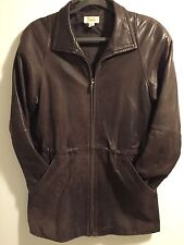 Talbots Men's XS Brown Leather Jacket Rare Item Nice Soft Leather Extra Small 38