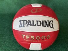 Spalding TF5000 Full grain leather volleyball ball