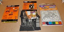 Halloween Foam Build A Scene Kit House & Pom-Pom Kit & Magic Paint Puzzles 170J