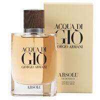 Acqua Di Gio Absolu By Giorgio Armani Men's Eau De Parfum 75ml 2.5oz New In Box