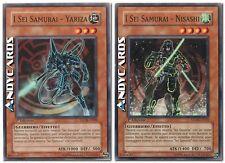 I Sei Samurai - Yariza + Nisashi ☻ Comune ☻ STON IT009 IT010 ☻ YUGIOH ANDYCARDS