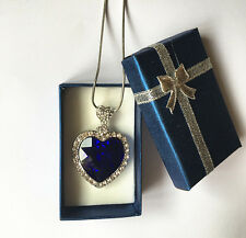 TITANIC HEART OF THE OCEAN CRYSTAL NECKLACE in box