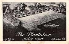 Allendale South Carolina Plantation Aerial View Antique Postcard K41593