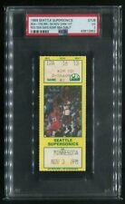 Shawn Reign Man Kemp 1989 Basketball Debut Ticket Seattle 1st Timberwolves Game