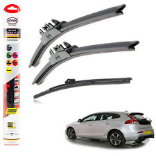 "Volvo V40 Cross Country 2013+ HEYNER SUPER FLAT PREMIUM wiper blades 26""19""12""F"