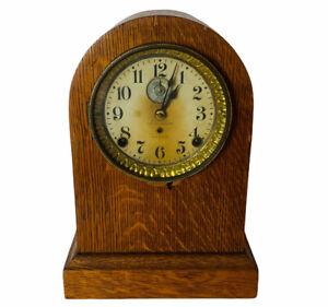 Antique Seth Thomas Progress Mantel Clock 8-Day Alarm Working ca 1909 w/ Key