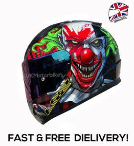 LS2 FF353 HAPPY DREAMS FULL FACE MOTORCYCLE CRASH HELMET WITH FREE RAINBOW VISOR