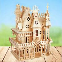 Woodcraft Construction Kit Dolls House Furniture 3D Model Puzzle Kids Xmax