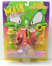 "THE MASK Jim Carrey ""Clown Around"" ACTION FIGURE Toy Island 1997 NIP head popper"