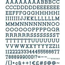 """Dcwv Letterboard Letters & Characters 1"""" 188/Pkg Navy 611356314934"""
